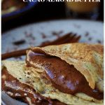 Paleo Crepes with Chocolate Almond butter spread ! Creamy and Smooth dairy free/gluten free paleo crepes with dark cacao almond butter. Keto crepes. Paleo Valentine's Day recipe. Paleo breakfast. Keto breakfast. IHeartUmami.com