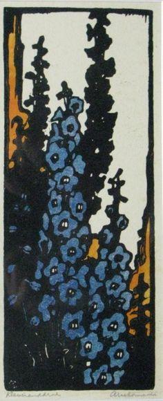 Delphinium, Ridderspoor,  Zonneveld, Arie (1905-1941