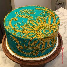 Henna Cake Designs, Cupcake Cake Designs, Cake Designs Images, Cake Decorating For Beginners, Cake Decorating Techniques, Cake Decorating Tips, Henna Wedding Cake, Mehndi Cake, Mini Tortillas