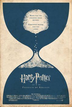 Harry Potter e o prisioneiro de Azkaban (2004) (arte por Adam Rabalais)
