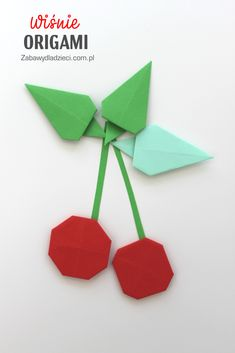#cherriesorigami #origami #cherries #cherry #zabawydladzieci #easyorigami #