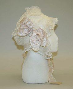 Cap Date: ca. 1830 Culture: American Medium: cotton, silk
