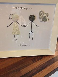 Personalised Button Family Picture. Hand Made To Suit You - Wedding/Anniversary in Crafts, Hand-Crafted Items | eBay