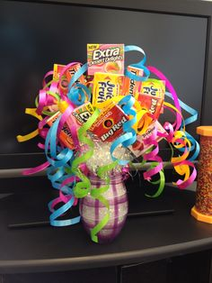 Gum bouquet I made for my daughter as a surprise when she got her braces off.