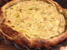 Torta salata con asparagi verdi e bocconcini di trota marinata: ricette wellness #ricettewellness #ricettebenessere #trentino #masterchef #pastasfoglia #tortasalata