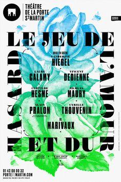 Affichage pour le Théâtre de la Porte St-Martin, Paris.