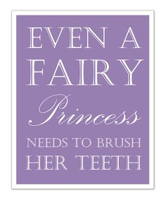 Purple Princess 'Teeth' Print - done. Pediatric Dentistry of Brandon - www.pediatricdentistryofbrandon.com