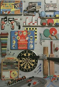 Classic selection of toys from the 60s