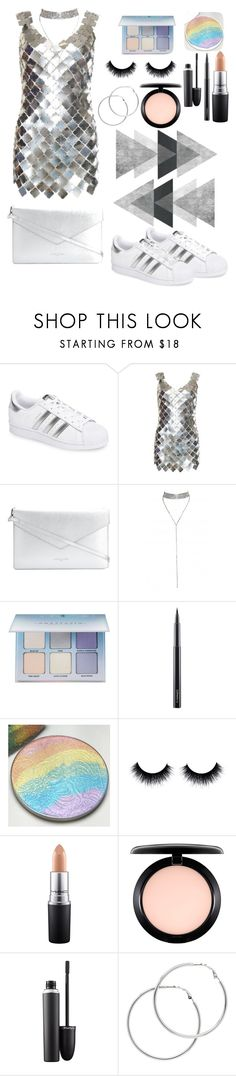 """""""Fashion muse"""" by fashioneista ❤ liked on Polyvore featuring adidas, Paco Rabanne, Lancaster, Anastasia Beverly Hills, MAC Cosmetics and Melissa Odabash"""