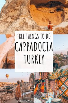 Free things to do in Cappadocia on a budget! Turkey Travel - Best things to do in Cappadocia, Turkey! Europe Travel Tips, European Travel, Asia Travel, Travel Destinations, Travel Goals, Budget Travel, Travel Guides, Turkey Vacation, Turkey Travel