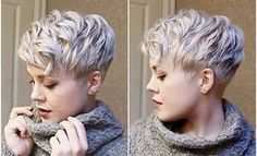 Must See Short Hair Color Ideas for 2018 , For getting a new haircut and hair color. Here are the hair color trends of 2018 that are getting evolved into more natural and stylish looks. Ombre… , Hair Color Source by shorthairstyleideas Long Pixie Hairstyles, Short Pixie Haircuts, New Haircuts, Cool Hairstyles, Bridal Hairstyles, Popular Haircuts, Short Feminine Haircuts, Short Hair Cuts For Women Edgy, Feminine Pixie Cuts