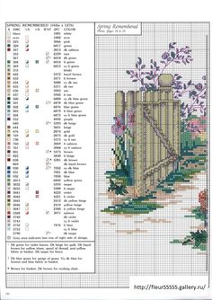 """""""Spring Remembered Part II"""" cross stitch pattern by Paula Vaughan. Saved from fleur55555.gallery.ru"""