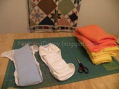 DIY Fleece Diaper Pockets.  Cloth Diapers.