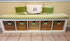 9. DIY #Bench - 33 Ikea Hacks #Anyone Can do ... → DIY #Storage