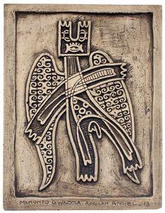 Mkhonto Gwazela African, Angel, Ceramics, Play, Artwork, Hall Pottery, Art Work, Pottery, Work Of Art