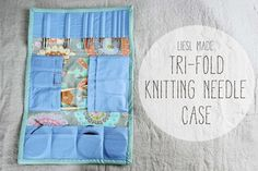 Liesl Made : Deluxe Tri-Fold Knitting Needle Case