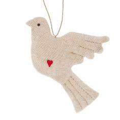 Buy Cambric & Cream Linen Dove Tree Decoration Online at johnlewis.com - £4