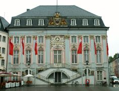 Altes Rathaus in Bonn, Nordrhein-Westfalen, Northwestern Germany. The old city hall was built in rococo style in 1737/38 by Michael Leveilly.