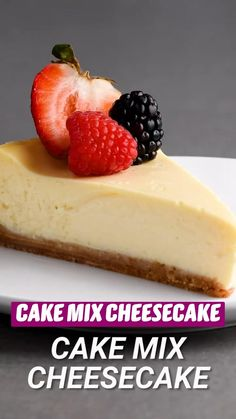 Fun Baking Recipes, Cake Mix Recipes, Cheesecake Recipes, Sweet Recipes, Dessert Recipes, Cake Mixes, Easy Desserts, Delicious Desserts, Yummy Food