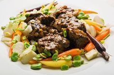 Recipe: Lamb ragout with spring vegetables    Photo: Fred R. Conrad/The New York Times