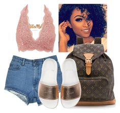 """""""Khalysha"""" by therealslimm ❤ liked on Polyvore featuring Charlotte Russe, Louis Vuitton, BUSCEMI, men's fashion and menswear"""