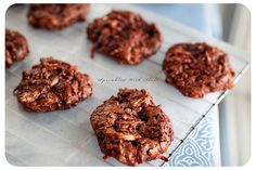 Flour Chocolate Almond Coconut Cookies.
