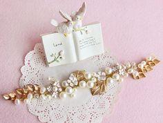 Aliexpress.com: Comprar Oro hechos a mano Wedding la venda nupcial de la flor de la hoja de la perla velo Tiara Pageant Prom accesorios para el cabello de espuma de pelo fiable proveedores en henry store01