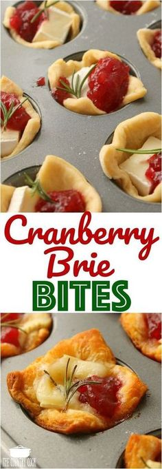 Cranberry Brie Bites Rezept von The Country Cook . ,Cranberry Brie Bites Rezept von The Country Cook . Finger Food Appetizers, Yummy Appetizers, Appetizers For Party, Easy Thanksgiving Appetizers, Brie Appetizer, Easy Finger Food, Christmas Party Appetizers, Holiday Parties, Appetizer Ideas