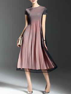 Skater Street Short Sleeve Midi Dress - StyleWe.com