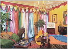 Babylon Sisters: Boho Curtains from Vintage Saris