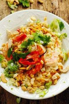 Exotic spicy shrimp risotto (scroll down for English)