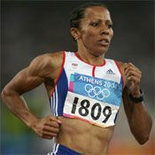 Double Olympic gold medal winner Dame Kelly Holmes