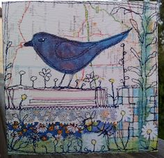 Appliqué and freestyle embroidery by Moira Anne Dickson