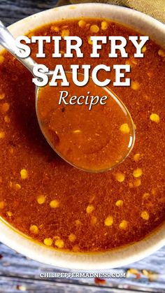 This is my go-to stir fry sauce recipe and it's so easy to make with soy sauce, sesame oil, brown sugar and my favorite ingredient – gochujang – for a touch of heat. Perfect for the spicy food lover! Do you enjoy a good stir fry? I'll bet you do. As a spicy food lover, a good stir fry dish can equate to big satisfaction, depending on the recipe, of course.