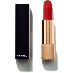CHANEL Rouge Allure Intense Long-Wear Lip Colour ($37) ❤ liked on Polyvore featuring beauty products, makeup, lip makeup, lipstick, beauty, lips, long wear lipstick, chanel, long wearing lipstick and chanel lipstick