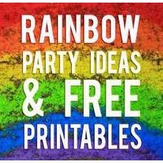 Rainbow Party Ideas and Free Printables
