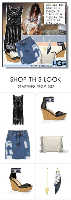 """""""Play With Prints In UGG: Contest Entry"""" by caroline-brazeau ❤ liked on Polyvore featuring Spell & the Gypsy Collective, Boohoo, UGG Australia, contestentry, polyvorecontest and thisisugg"""