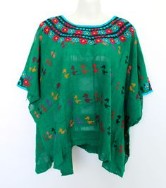 Un favorito personal de mi tienda Etsy https://www.etsy.com/mx/listing/294851607/hand-woven-green-mexican-huipil-made-in