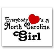 Everybody Hearts a North Carolina Girl Postcard... Even tho my state is breaking my heart right now...
