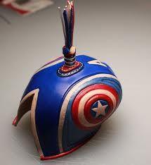 Captain America falconry hood