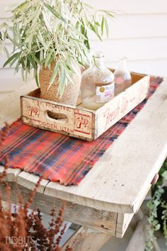 Learn how to make this Fall flannel table runner to add a bit of cozy in your home decor.