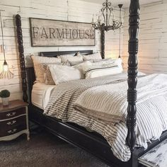 You couldn't decide which one to choose between rustic bedroom designs? Are you looking for a stylish rustic bedroom design. We have put together the best rustic bedroom designs for you. Find your dream bedroom designs. Farmhouse Master Bedroom, Master Bedroom Design, Dream Bedroom, Home Decor Bedroom, Master Room, Modern Bedroom, Bedroom Curtains, Bedroom Designs, Master Suite