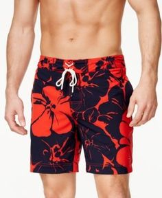 Tommy Hilfiger Men's Calders Floral Board Shorts - Blue