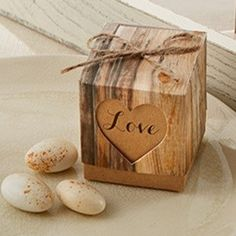Love Rustic Chic Wedding Favor Box (Set of 12)