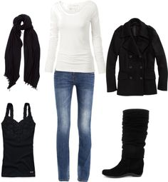 """""""black and white"""" by taylor9501 on Polyvore"""