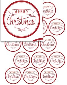 Christmas Tag Printable - great for giving gifts to neighbors and friends