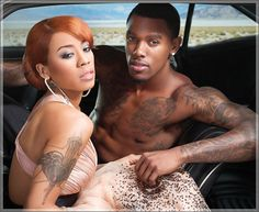 Keyshia Cole's Husband Gets A Tattoo Of Her Face On His Arm