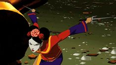 """Season 1 Episode 10 Targets: Cheshire in disguise: Cheshire: """"You called one of your little side kick friends. I thought you told me you were out of their league. Gi Joe, Young Justice Season 1, Justice League Funny, Comic Character, Character Design, Fantastic Show, Amazing, Brave And The Bold, Wally West"""