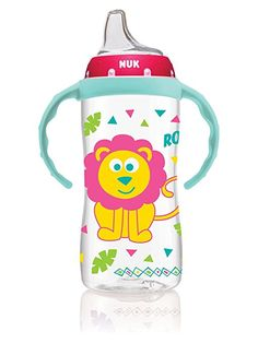 NUK Jungle Designs 10 Ounce Large Learner Cup in Boy Patterns With for sale online Nuk Pacifier, Pacifiers, Nuk Sippy Cup, Diaper Bag, Teaching Babies, Age Regression, Baby Bottles, Baby Feeding, Toddler Fashion