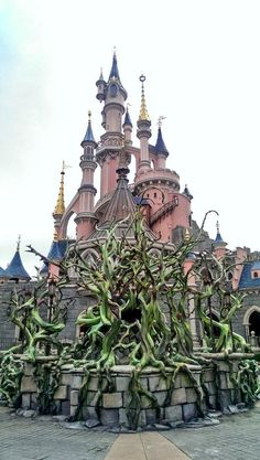 Thorn bushes have been sprouting around the castle for Maleficent's Court.